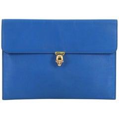 Alexander McQueen Skull Envelope Clutch Leather