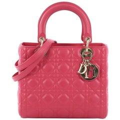 Christian Dior Lady Dior Handtasche Cannage Gestepptes Lammleder, Medium