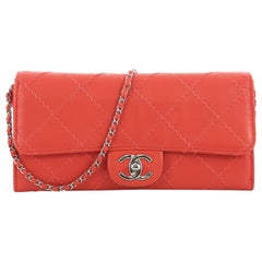 Chanel Ultimate Stitch Wallet on Chain Quilted Lambskin East West