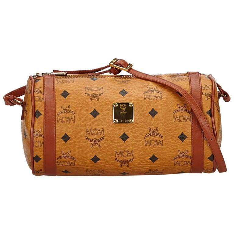 e09c871ee MCM Brown Visetos Leather Shoulder Bag at 1stdibs