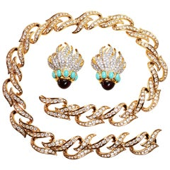"Elizabeth Taylor ""Eternal Flame"" Necklace and Earring Set"