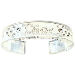 "20th Century Lucite & Swarovski Crystal ""DIOR"" Cuff Bracelet By, Christian Dior"