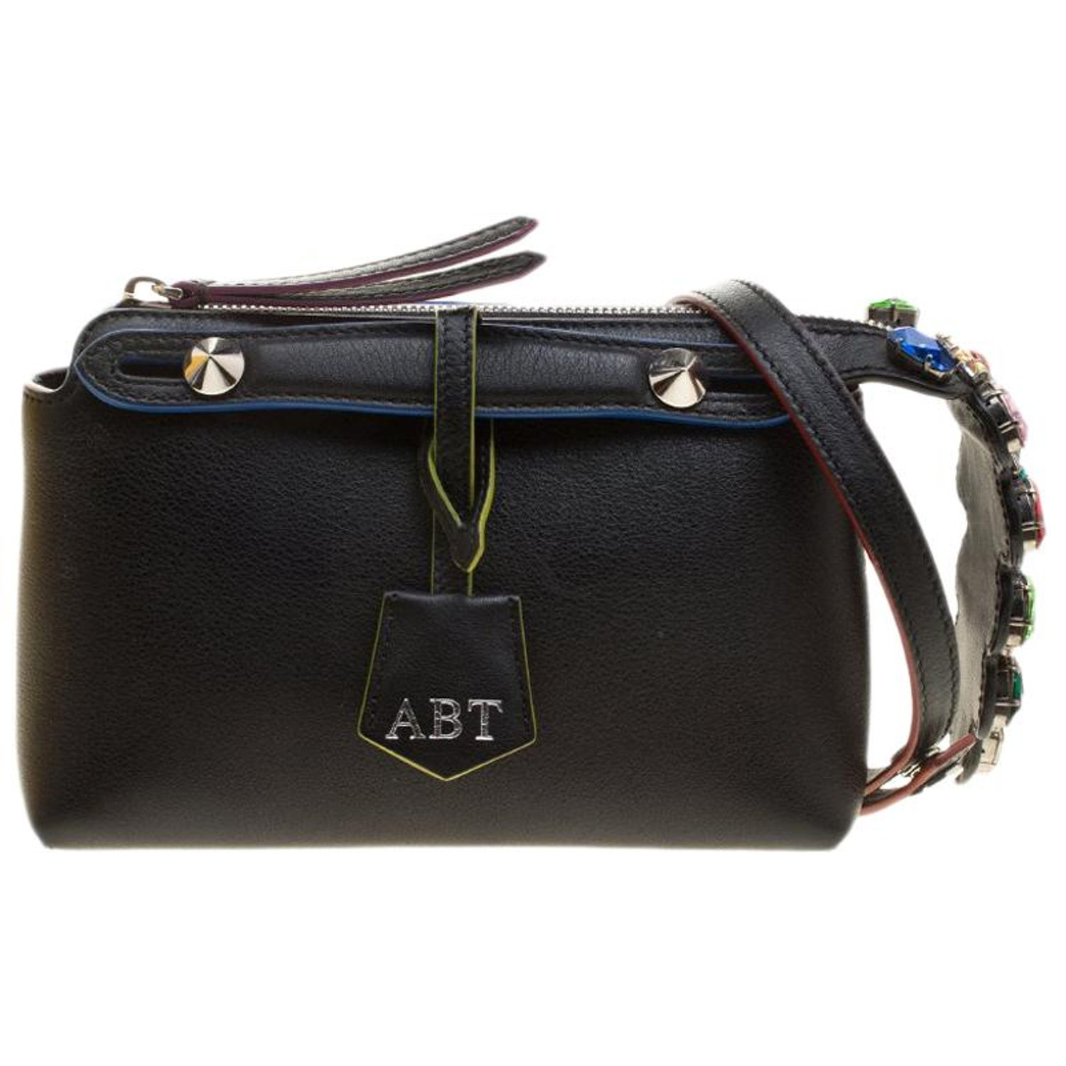 05dd2d94cc Fendi Black Leather Mini By The Way Crossbody Bag For Sale at 1stdibs