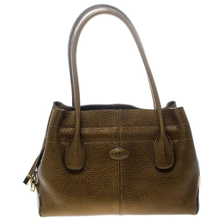 533ebadd732a Tod s Dark Gold Leather D Bag Media Tote For Sale at 1stdibs