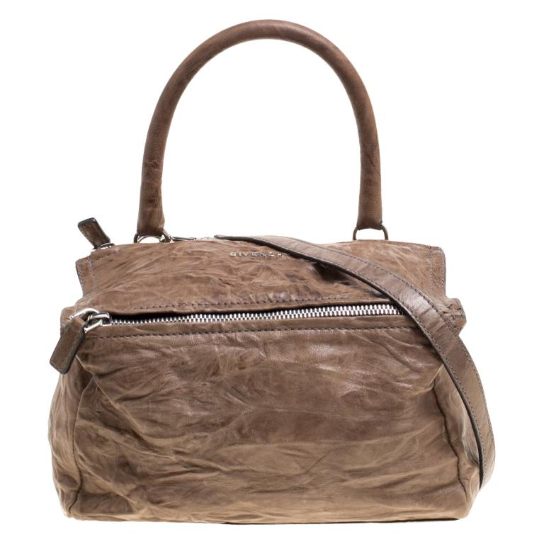 e66f68320d Givenchy Brown Leather Medium Pandora Crossbody Bag For Sale at 1stdibs