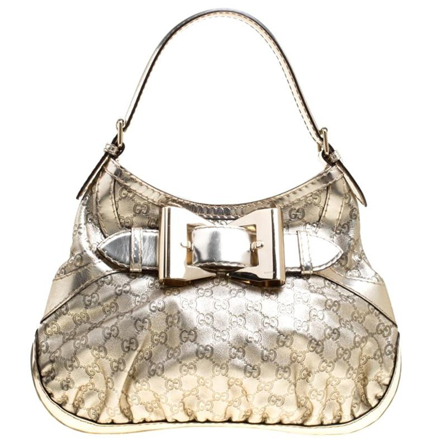 dc0384453 Gucci Light Gold Guccissima Leather Medium Queen Hobo For Sale at 1stdibs