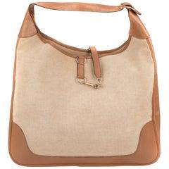 Handbag Hermes Trim XL BI-Material canvas & leather Beige!