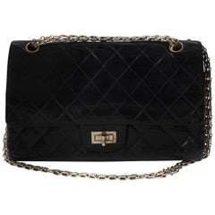 Handbag Chanel 2.55 in Black lambskin Leather !