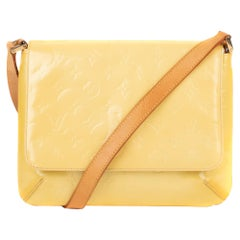Louis Vuitton Thompson Street Yellow Varnished Monogram Leather