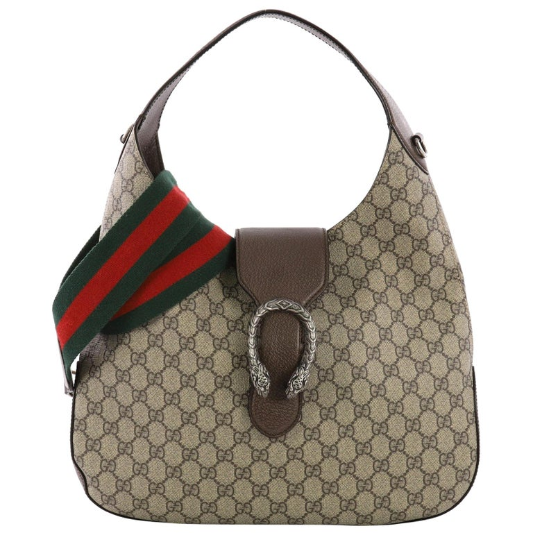 c2997e1be6c Gucci Dionysus Hobo GG Coated Canvas Medium at 1stdibs