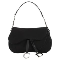 Christian Dior Vintage Double Saddle Bag Nylon