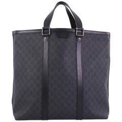 Gucci Zipped Tote GG Coated Canvas Large