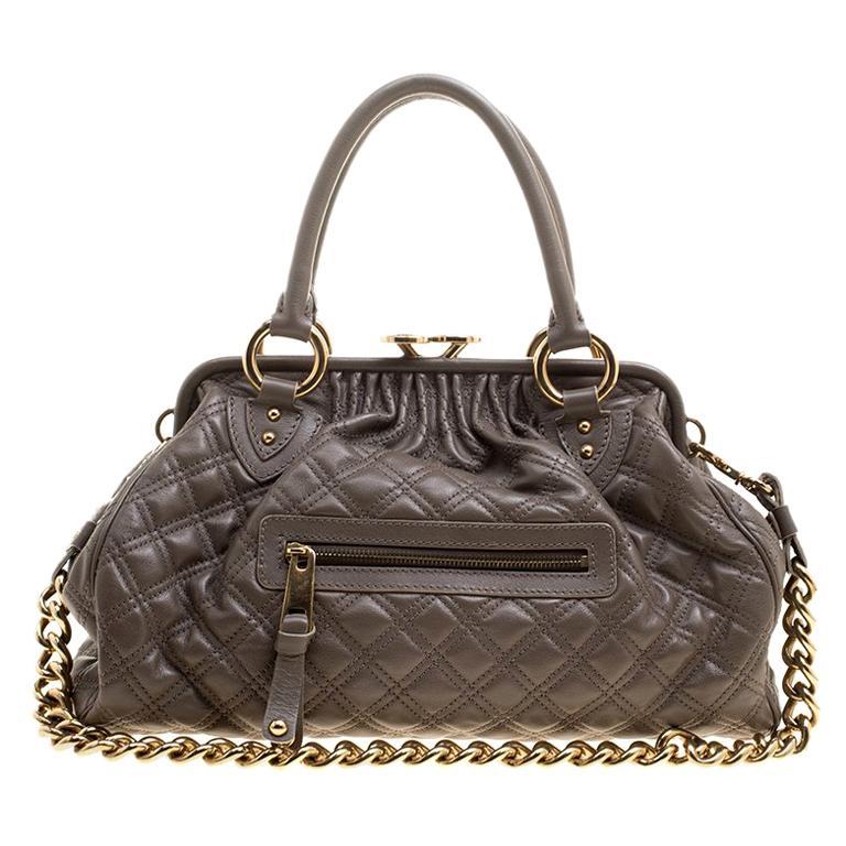 180e72240000 Marc Jacobs Dark Beige Quilted Leather Stam Shoulder Bag For Sale at ...