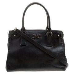 13bdaee3f5 Salvatore Ferragamo Black Leather Tote For Sale at 1stdibs