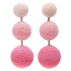 Rebecca de Ravenel sphere-drop clip-on earrings - Current