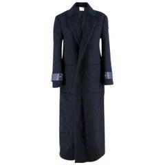 Agnona Navy Mohair Blend Coat - Current Season US 4