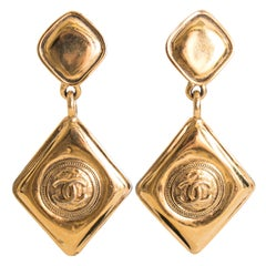A Pair of Vintage Chanel 1990s Drop Clip-On Earrings