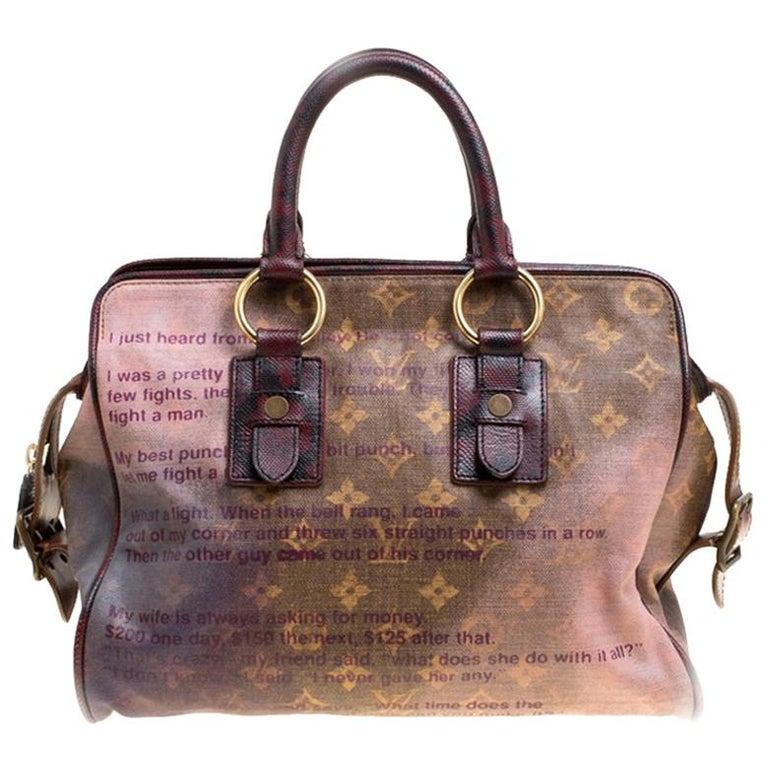 b0a53c2455a2 Louis Vuitton Monogram Limited Edition Richard Prince Graduate Jokes Bag  For Sale