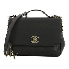 Chanel Business Affinity Flap Bag Quilted Caviar Small