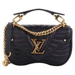 Louis Vuitton New Wave Kette Tasche gesteppt Leder MM