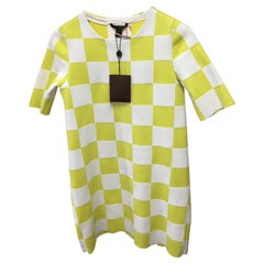 Louis Vuitton mini-dress with chess, Yellow