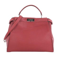 Fendi Selleria Peekaboo Handbag Leather Large