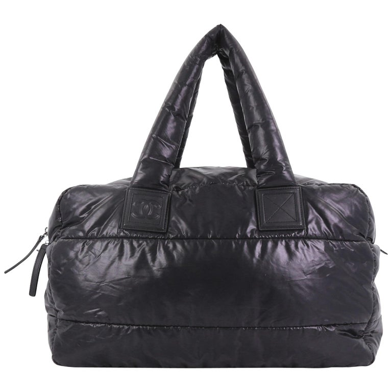 1962c4b89eb0 Chanel Coco Cocoon Reversible Bowling Bag Quilted Nylon Medium For Sale