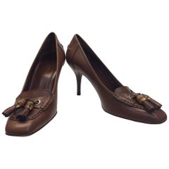 Gucci Brown Leather Pumps