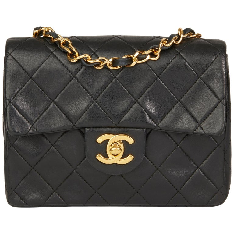 53a41afebb3f 1989 Chanel Black Quilted Lambskin Vintage Mini Flap Bag For Sale at ...
