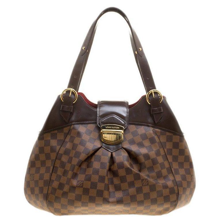 9156c211897 Louis Vuitton Damier Ebene Canvas Sistina GM Bag For Sale at 1stdibs
