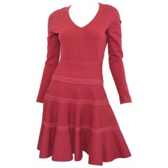 Alaia Raspberry Knit Top & Skirt Set