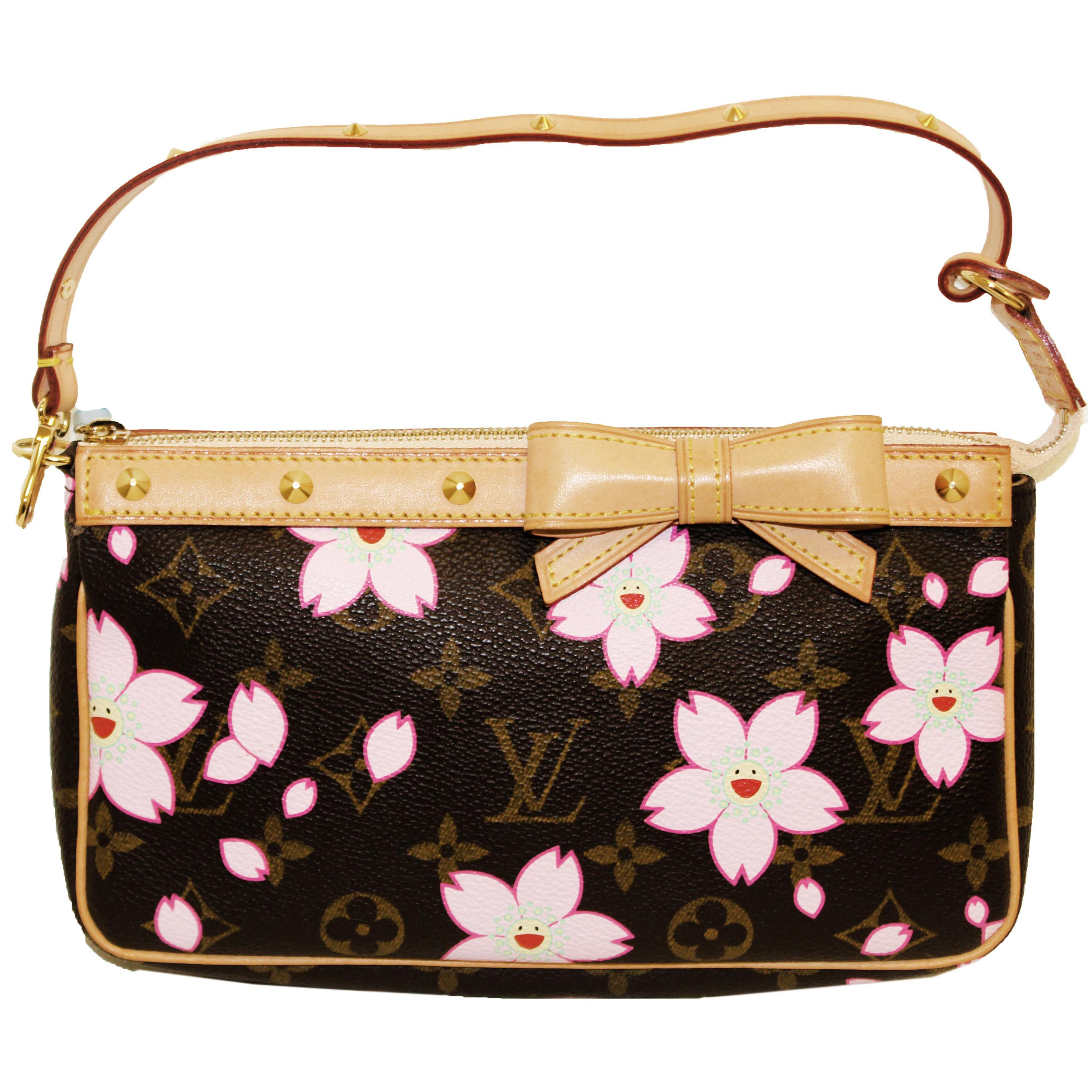 6f230d2c2d Louis Vuitton Monogram Cherry Blossom Limited Edition Pochette at 1stdibs