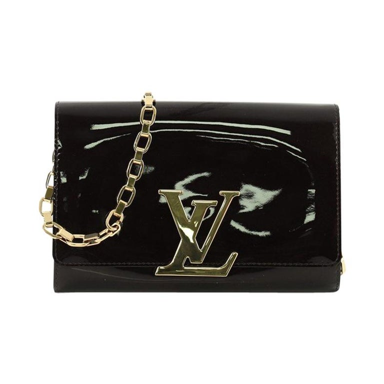 10f84775e68 Louis Vuitton Chain Louise Clutch Patent GM at 1stdibs
