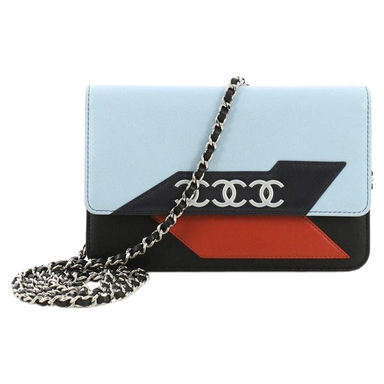 8c73a43798b1 Chanel Airlines Wallet on Chain NM Lambskin Small For Sale at 1stdibs