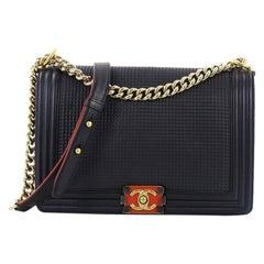 Chanel Boy Flap Bag Cube Embossed Lambskin New Medium