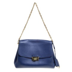 Dior Blue Leather Large Diorling Shoulder Bag