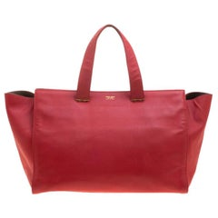 Giorgio Armani Red Leather Tote