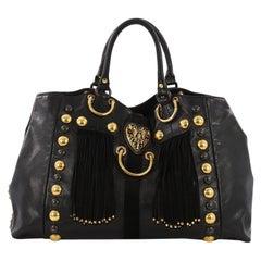 Gucci Fringe Babouska Tote Leather Medium