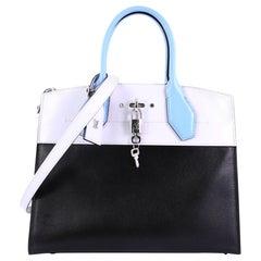 Louis Vuitton City Steamer Handbag Leather MM