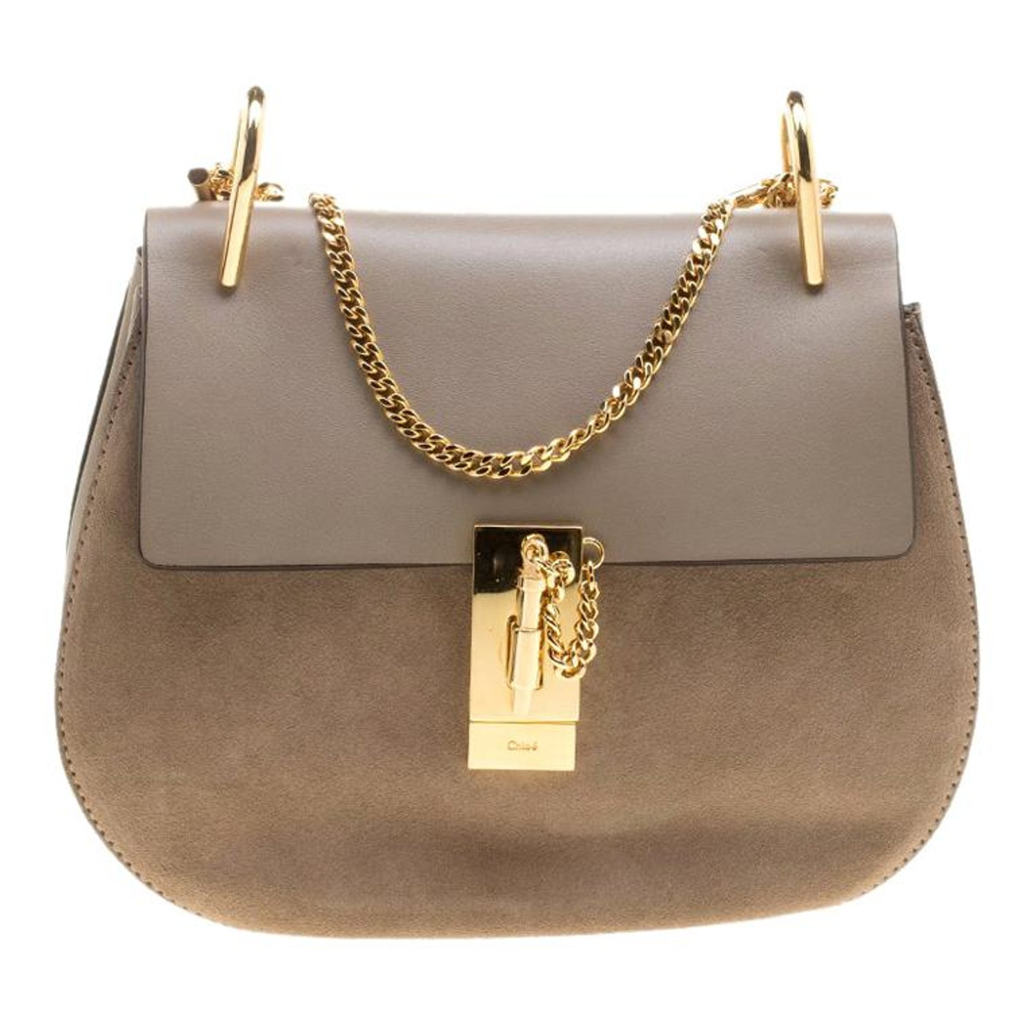 c8ef9ffde5388 Chloe Motty Grey Leather Medium Drew Shoulder Bag For Sale at 1stdibs