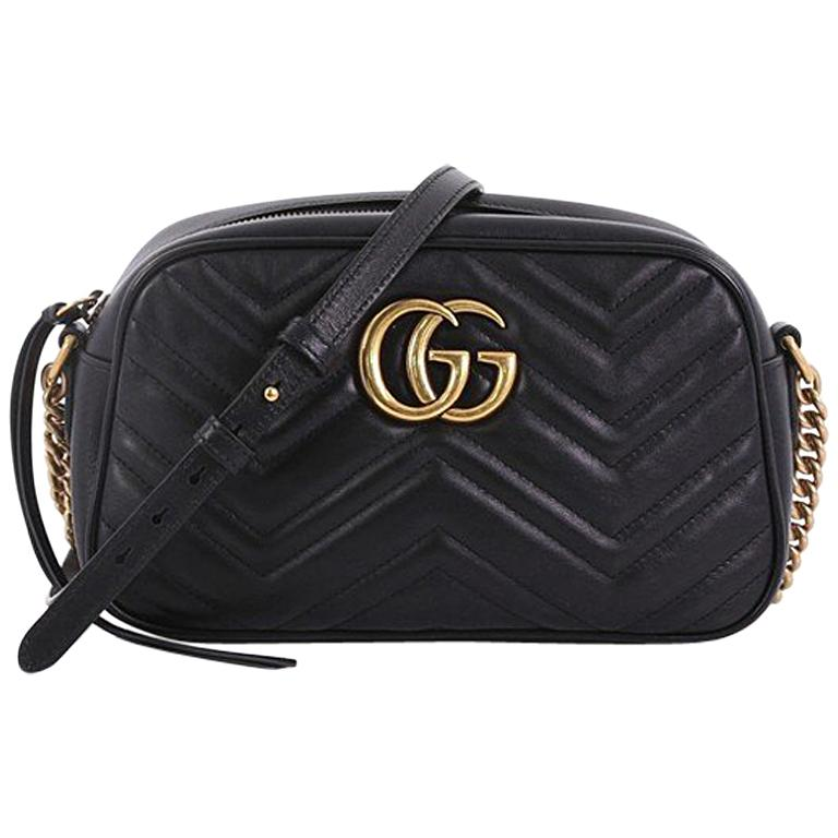 fa36bac9cc0 Gucci GG Marmont Shoulder Bag Matelasse Leather Small at 1stdibs