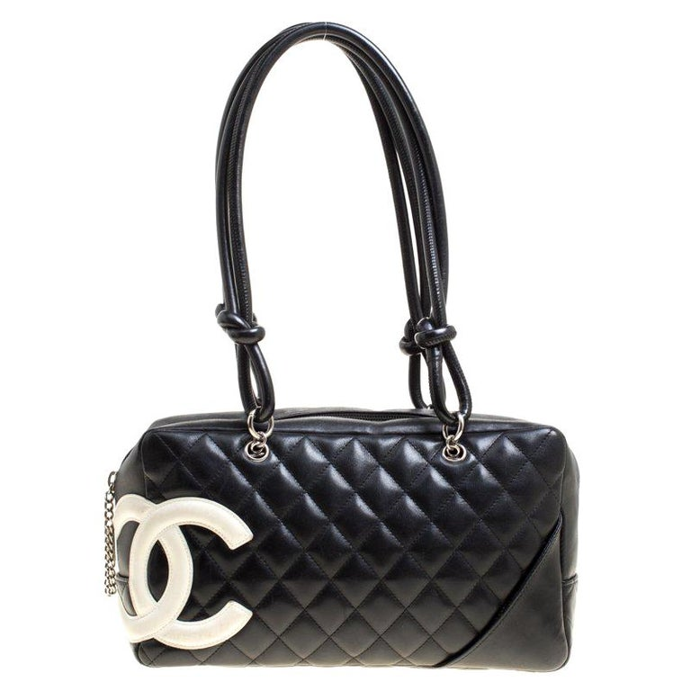 82fd73dae4499b Chanel Black Quilted Leather Cambon Ligne Bowler Bag For Sale at 1stdibs