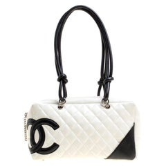 Chanel White Quilted Leather Cambon Ligne Bowler Bag 203f026cfb677