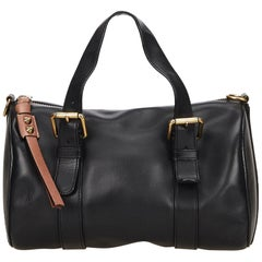Chloe Black Leather Sam Bowling Bag