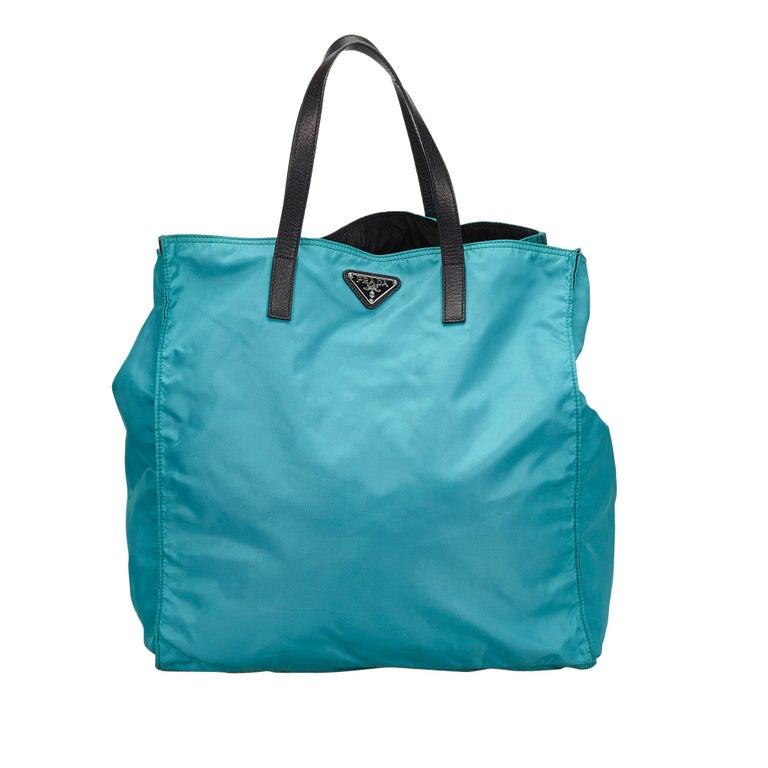 0b74652dbcff Prada Blue Nylon Tote Bag at 1stdibs