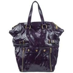 Yves Saint Laurent Purple Downtown Large Bag