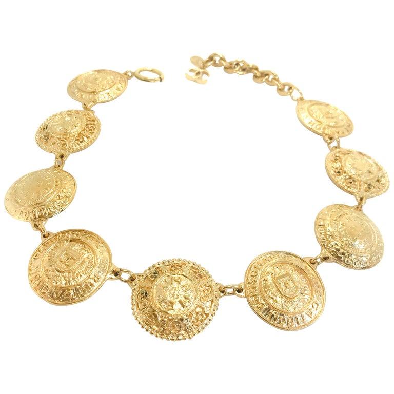 Chanel 1980s Vintage Medallion Necklace For Sale