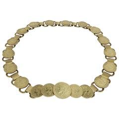 Vintage Gold Coin Chain Belt