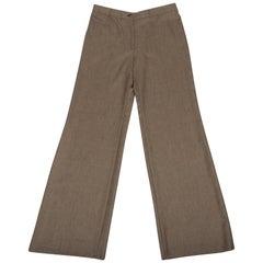 Loro Piana Pant Light Brown Flat Front 46 / 12 NWT
