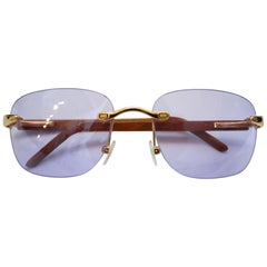 1ee5f51e03 1990s Porta Romana Clear Purple Lens Sunglasses